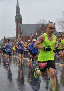 Dickson Suit, Ironwood Capital Managing Director, in the Boston Marathon.   April 20, 2015: This was a tough one. Raw cold rain, at times down poured, and windy.  Finished in 3:07:00. Go Dickson!