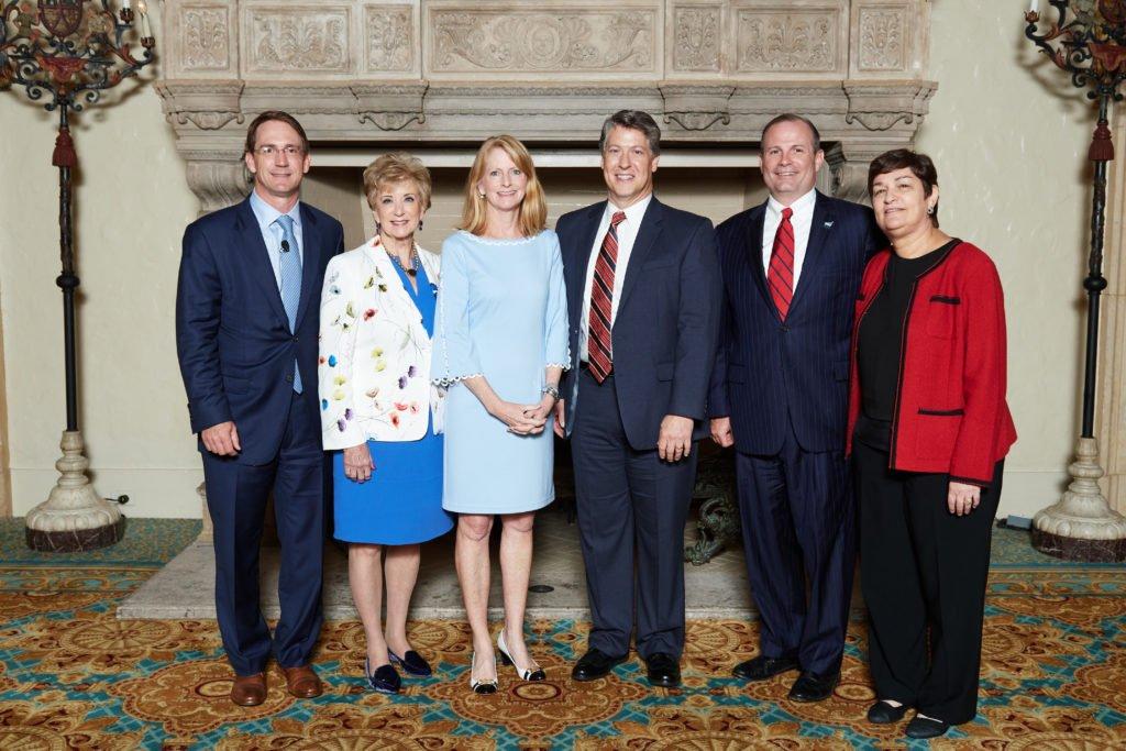 Carolyn Galiette of Ironwood Capital with Linda McMahon and leadership